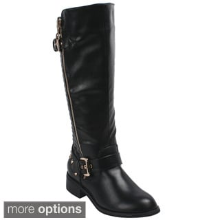 Bonnibel 'Ride-1' Women's Studded Knee High Riding Boots
