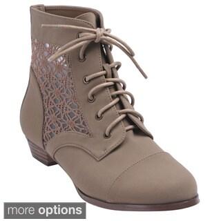 Bonnibel 'Obert-1' Women's Lace Up Ankle Booties