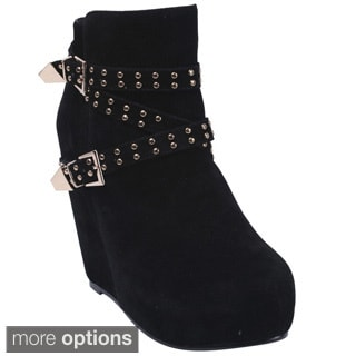 Bonnibel 'Yuki-2' Women's Zipper Studded Ankle Boots