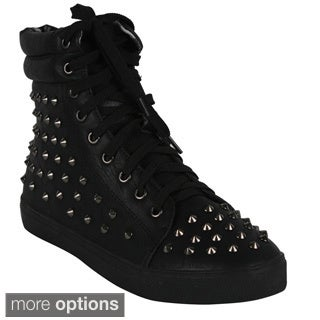 Cape Robin 'GH-019' Women's Lace Up Studded High Top Sneaker