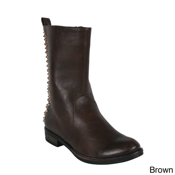 Cape Robin GH-006 Women's Western Side Zip Mid Calf Boots