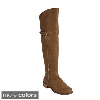 Reneeze 'Helen-03' Women's Side Zip Over Knee Riding Boots