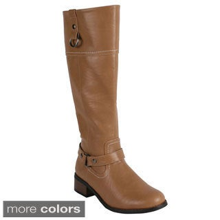 Reneeze 'Honey-1' Women's Side Zip Knee High Riding Boots