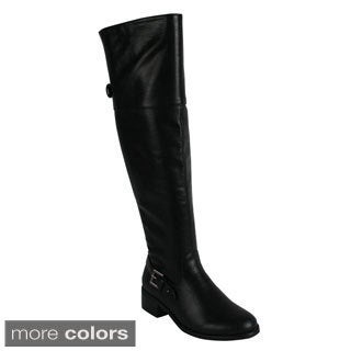 Reneeze 'Honey-2' Women's Side Zip Over Knee Riding Boots