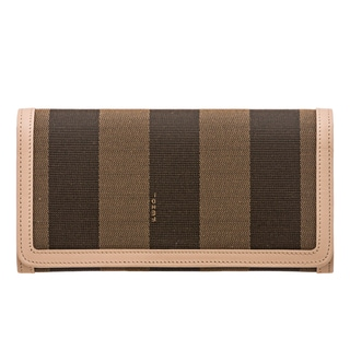 Fendi Pequin Striped Continental Wallet