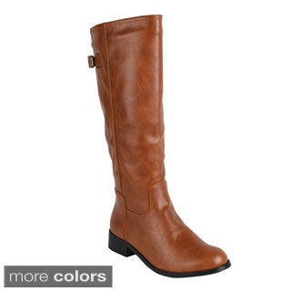 Reneeze 'APPLE-1' Women's Side Zipper Knee-High Riding Boots