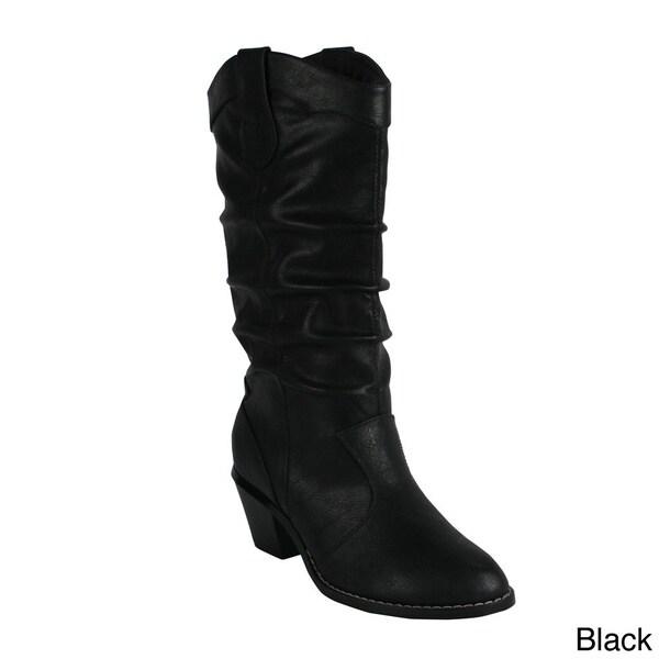 Reneeze 'HAPPY-1' Women's Slouch Western Boots