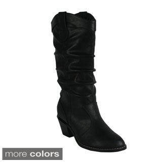 Reneeze 'HAPPY-1' Women's Slouch Western Boots