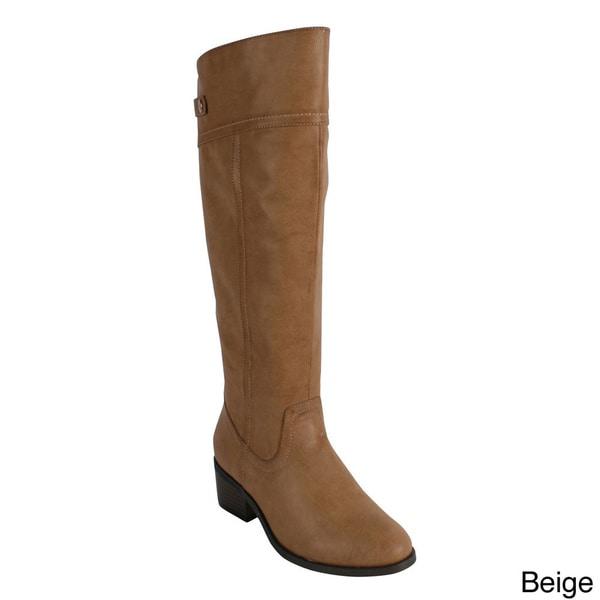 Reneeze 'Harwin-3' Women's Zipr Knee-High Riding Boots