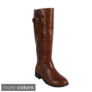 Reneeze 'HELEN-02' Women's Side Zip Knee-High Riding Boots