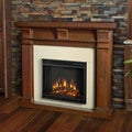 Real Flame Porter Walnut Electric Fireplace