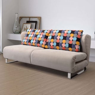 Conic Cement Grey Upholstery Sofa Sleeper
