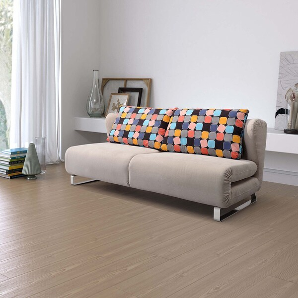 Conic Cement Grey Upholstery Sofa Sleeper