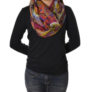 LA77 Colorful Feather Circle Scarf