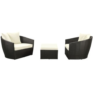 Espresso and White Kindred 3-piece Outdoor Patio Set (Set of 3)