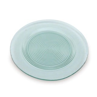 Recycled Glass Ringed Dinner Plate 4-piece Set