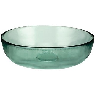 11.75-inch Recycled Glass Low Bowls