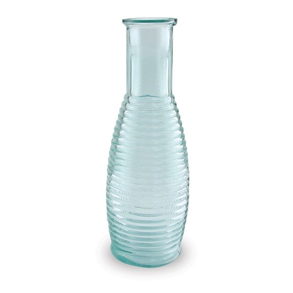 Recycled Glass Ringed Carafe