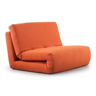 Polygon Modern Mandarin Orange Sleeper Chair