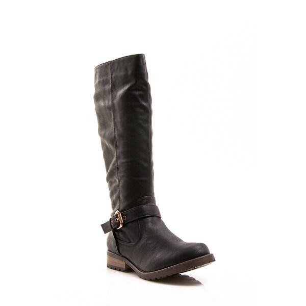 Women's 'Apple Ranch' Black Knee-high Riding Boots