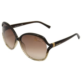 Roberto Cavalli Women's 'RC668S Aneto 50F' Black/Dark Grey Sunglasses