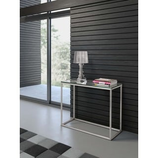 Sprocket Clear Glass Console Table