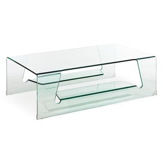 Airing Clear Glass Coffee Table