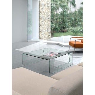 Campaign Clear Glass Coffee Table