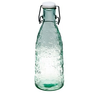 Recycled Glass H20 Bottle Set of 4