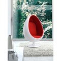 LOL White/ Red Fabric Lounge Chair