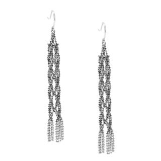Tiffiany & Co. 18k White Gold Antique Tassel Earrings