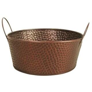 Hammered Copper Finish Metal Bowls (Set of 3)