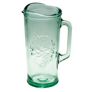 Recycled Glass Juice Time Pitcher