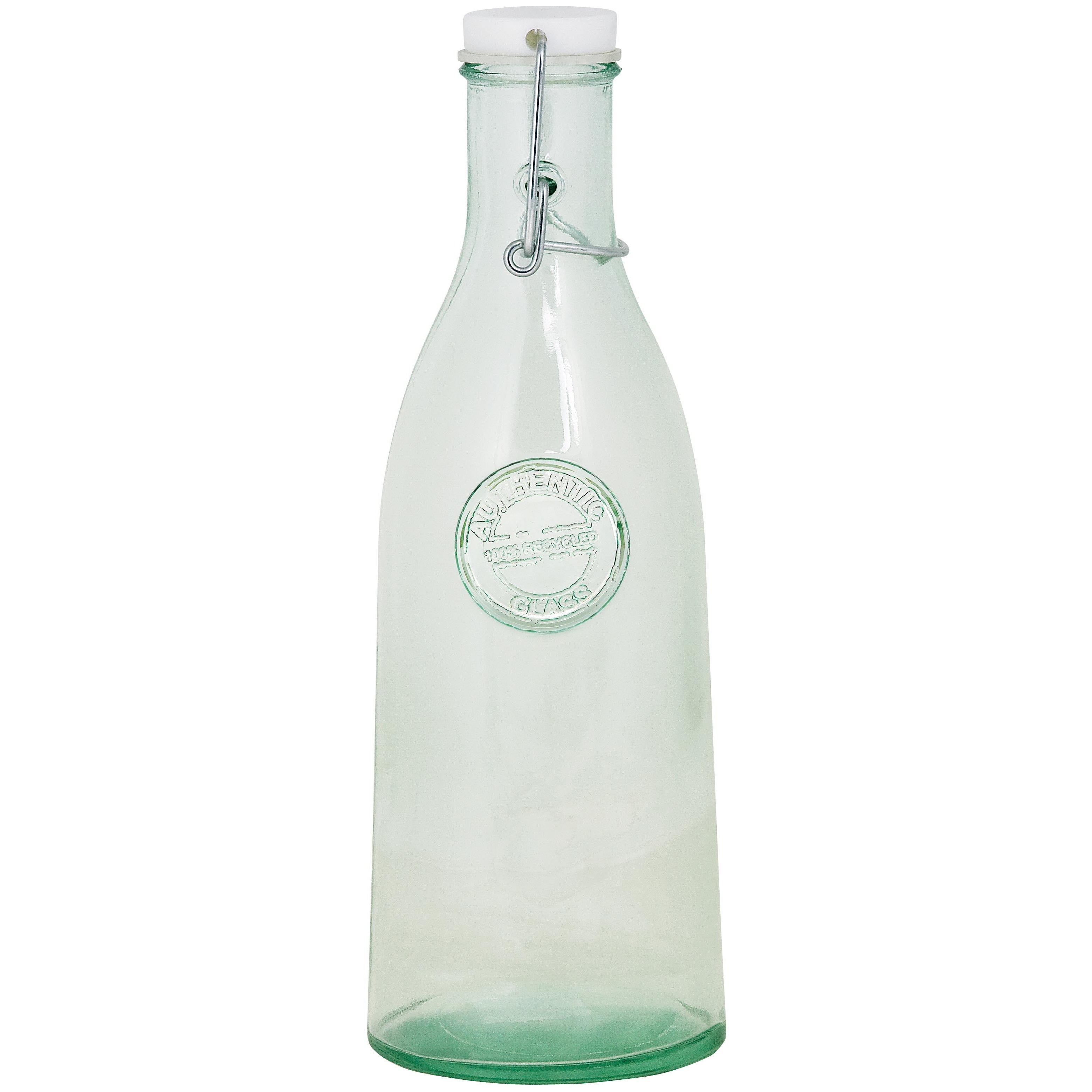 Authentic Recycled Clear Green Clamp Lid Bottle Glassware (Set of 4) at Sears.com