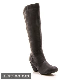 Gomax Women's 'Afton-14' Knee-high Stacked Heel Boots
