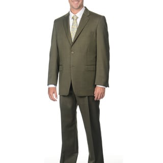 Jones New York Men's Trent 2 Button Olive Tic Suit