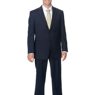 Jones New York Men's Solid Navy Trent Two Button Suit