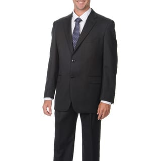 Jones New York Men's Trent 2 Button Solid Charcoal Suit