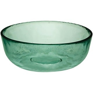 Set of 2 Recycled Glass Low Bowls