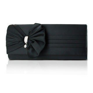 Bow Satin Evening Clutch