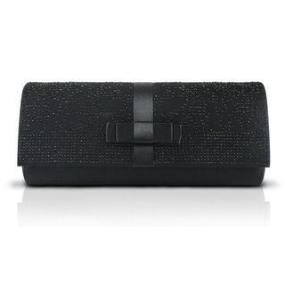 Simple Beaded Satin Evening Clutch