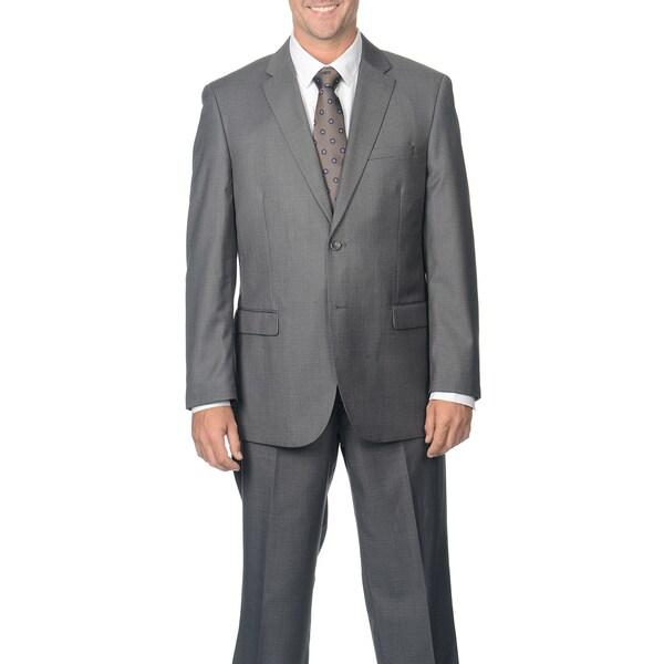 Caravelli Men's Grey Notch Collar 2-button Suit