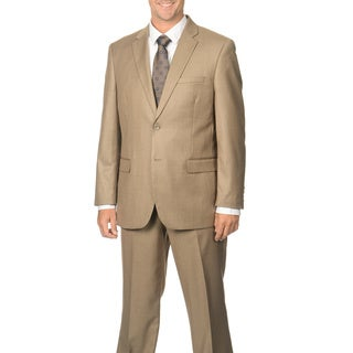Caravelli Men's Tan Notch Collar 2-button Suit