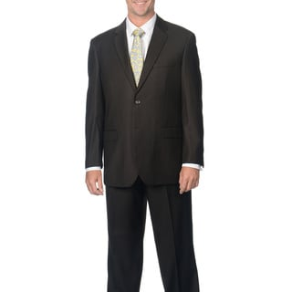 Caravelli Italy Men's Brown Pinstripe Suit