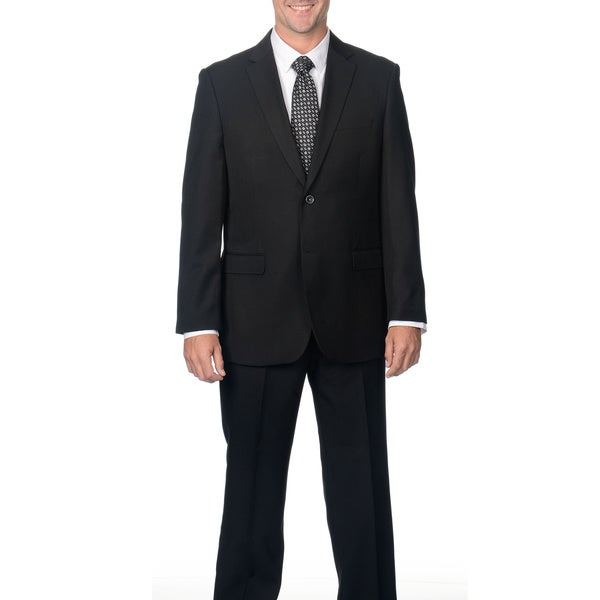Caravelli Men's Black Notch Collar 2-button Suit