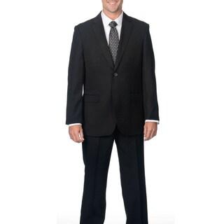 Caravelli Men's Black Notch Collar 2-button Suit