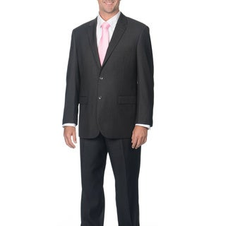 Caravelli Italy Men's Grey Pinstripe Suit