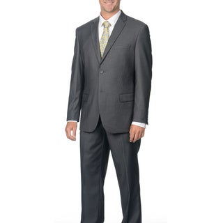 Caravelli Men's Slim Fit Grey 2-button Notch Collar Suit