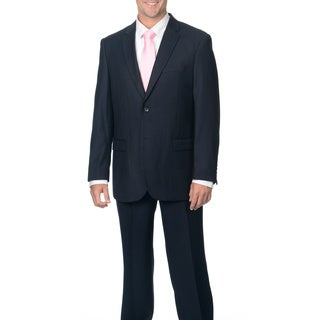 Caravelli Men's Modern Fit Navy 2-button Notch Collar Suit