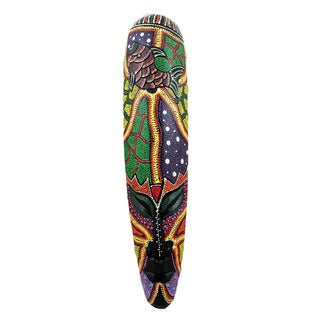 Hand-painted 20-inch Long Topang Ikan Aboriginal Mask (Indonesia)